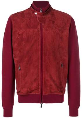 Brioni fitted bomber jacket