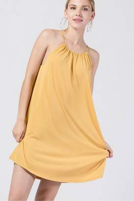 Double Zero Knit High-Neck Dress