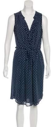 L'Agence Printed Midi Dress
