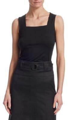 Akris Punto Sleeveless Squareneck Top
