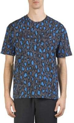 Kenzo Leopard Short-Sleeve Cotton Tee
