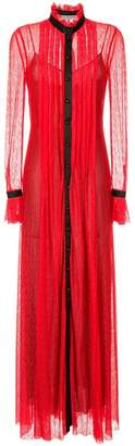 Philosophy di Lorenzo Serafini long sheer dress