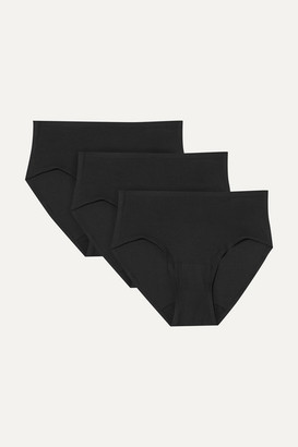 Chantelle Soft Stretch Set Of Three Jersey Briefs - Black