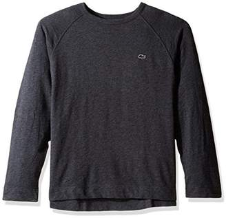 Lacoste Men's Slubby Lightweight Fleece Crewneck Sweater