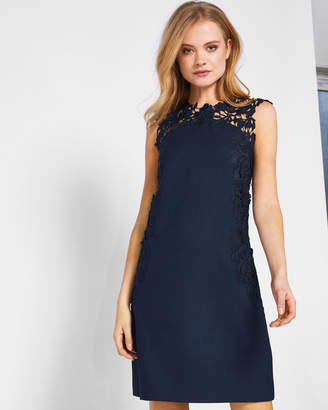 Ted Baker ANDRETI Applique lace tunic dress