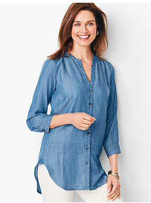 Talbots Tencel Split-Neck Tunic