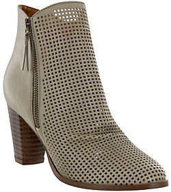 Mia Shoes Perforated Ankle Booties - Riya