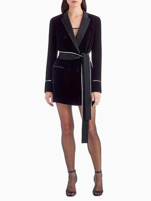 Diane Kruger x GREY Jason Wu Velvet Shirt Dress