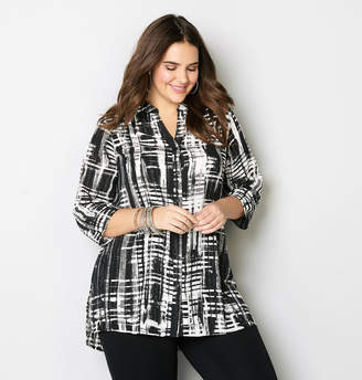 Avenue Plaid Tunic Shirt