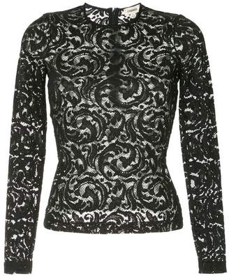 L'Agence pattern fitted blouse