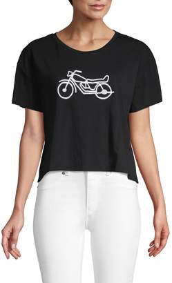 French Connection Graphic Cotton Cropped Top