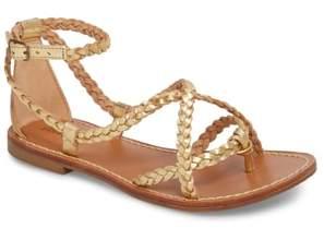 Soludos Amalfi Braided Metallic Sandal