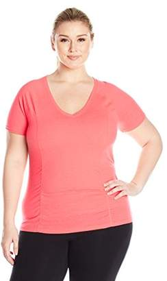 Fruit of the Loom Women's Plus Size Breathable Shirred T-Shirt
