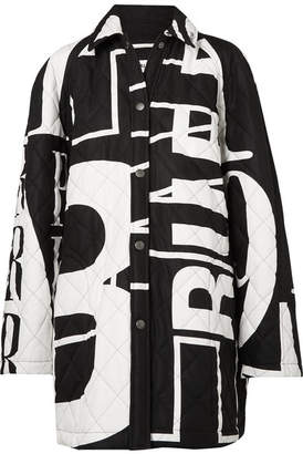 Balenciaga Printed Quilted Cotton-poplin Jacket - Black