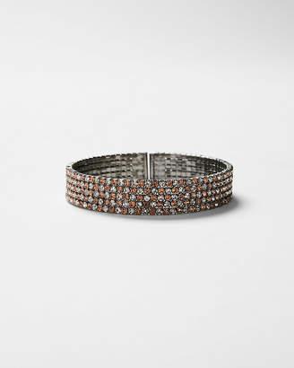 Express Two Tone Rhinestone Cuff Bracelet