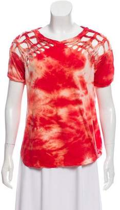 Isabel Marant Cutout-Accented Tie-Dye Top