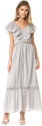 J.O.A. Swiss Dot Maxi Dress $113 thestylecure.com