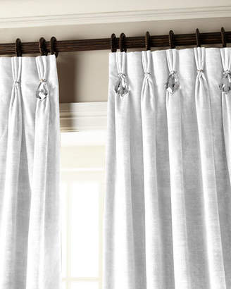 "Parker 6009 132""L Velvet Curtain with Asfour Crystals"