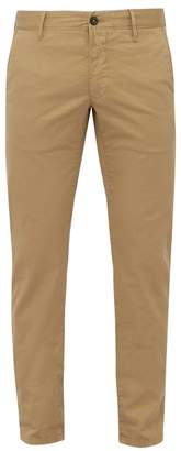 Incotex Slim Fit Stretch Cotton Chino Trousers - Mens - Beige