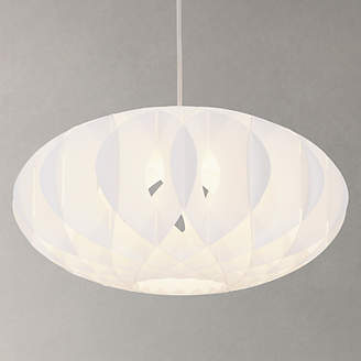 John Lewis & Partners House by Nate Easy-to-Fit Ceiling Shade, White