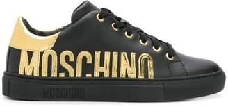 Moschino metallic logo sneakers