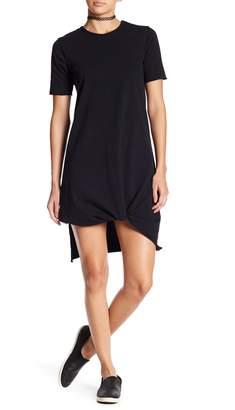 Drifter Distressed Short Sleeve Knotted T-Shirt Dress
