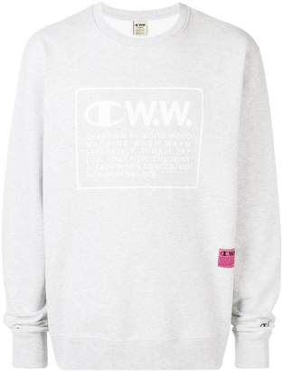 Wood Wood Champion X logo printed sweatshirt