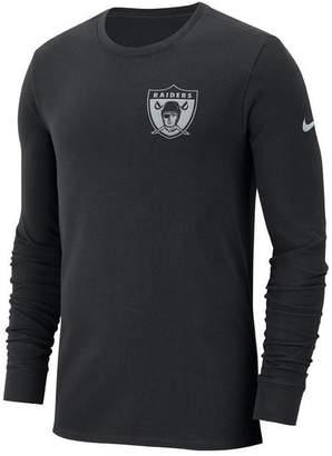 Nike Men's Oakland Raiders Heavyweight Seal Long Sleeve T-Shirt