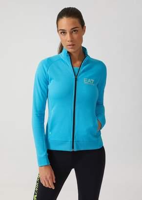 Emporio Armani Ea7 Breathable Ventus 7 Technical Fabric Sweatshirt With Zip