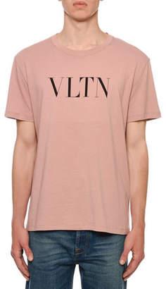 Valentino Men's VLTN Logo Typographic T-Shirt