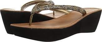 Kenneth Cole Reaction Women's Fine Sun Gltizy Platform Thong Sandal Wedge