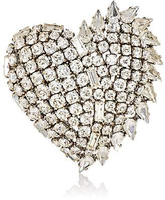 Saint Laurent Women's Heart-Shaped Brooch