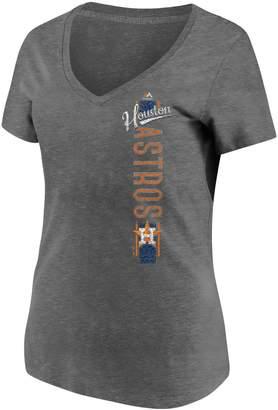 Majestic Women's Houston Astros Vertical Tee