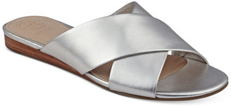 GUESS Womens' Flashee Crossband Sandals $69 thestylecure.com