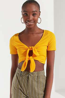 Urban Outfitters Tessa Tie-Front Cropped Top