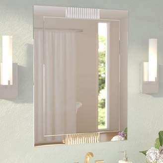 Wade Logan Caloundra Modern & Contemporary Glass Wall Mirror