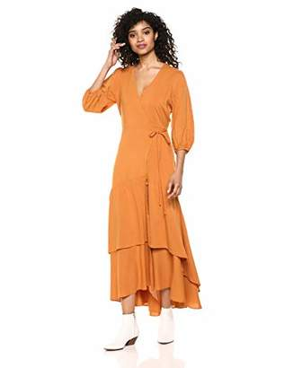 ASTR the Label Women's Sleeve WRAP Long Maxi Dress,s