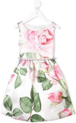 MonnaLisa floral flared sleeveless dress