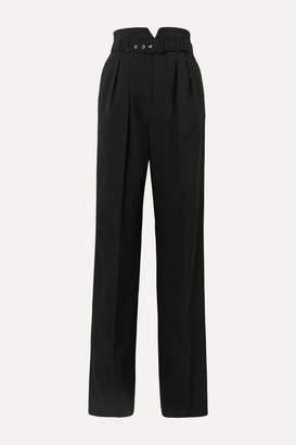 RED Valentino Belted Grain De Poudre Wide-leg Pants - Black