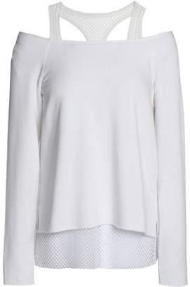 dbe1a87dc5bdf9 Bailey 44 Cold-shoulder Mesh-trimmed Stretch-modal Fleece Top