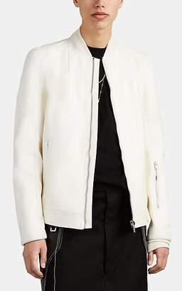 Rick Owens Men's Leather Bomber Jacket - White