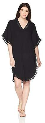 Michael Stars Women's Double Gauze Tassel Trim Cover up