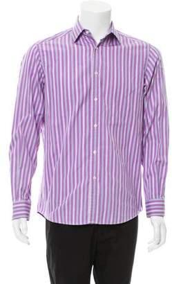 Ralph Lauren Purple Label Striped Button-Up Shirt