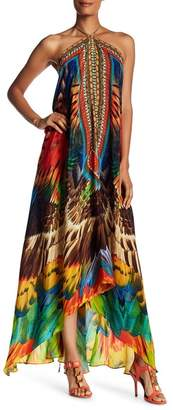 Shahida Parides Convertible Printed Silk Maxi Dress