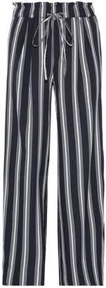Walter W118 By Baker Layla Striped Crepe De Chine Wide-Leg Pants