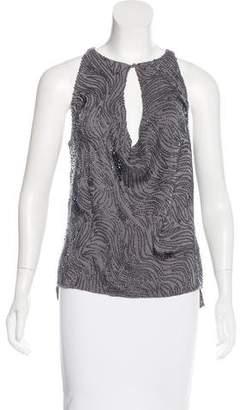 Halston Sleeveless Embellished Top w/ Tags