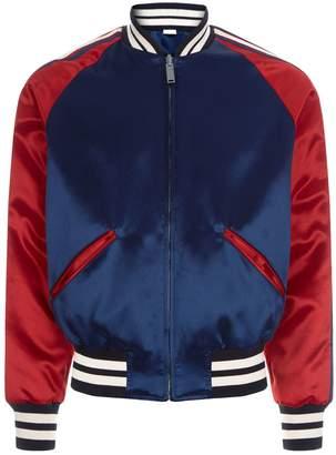 Gucci Reversible Silk Bomber Jacket