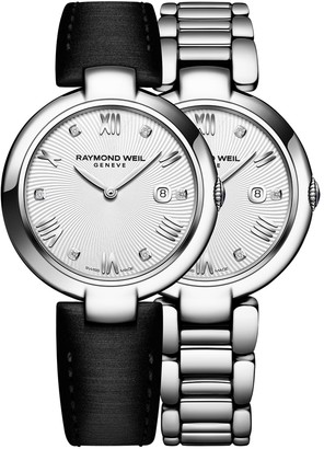 Raymond Weil Shine Diamonds and Stainless Steel Watch and Interchangeable Straps Set