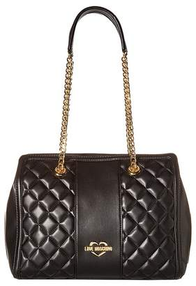 Love Moschino Quilted Shoulder Bag Chain Strap Handbags