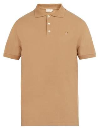 MAISON KITSUNÉ Logo Applique Cotton Pique Polo Shirt - Mens - Beige